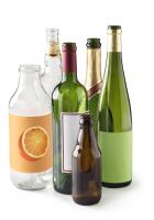 553-Composition de bouteilles en verre