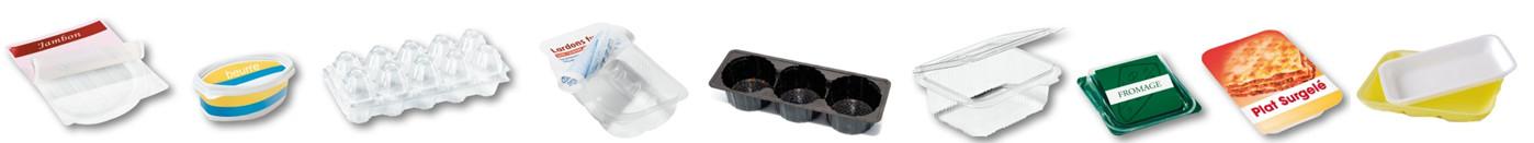composition boites barquettes plastiques